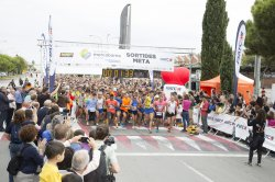 The starting line of the 1st Cursa Mercabarna