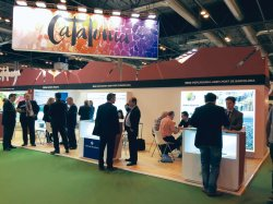 El stand de Mercabarna, la AGEM y Puerto de Barcelona en Fruit Attraction