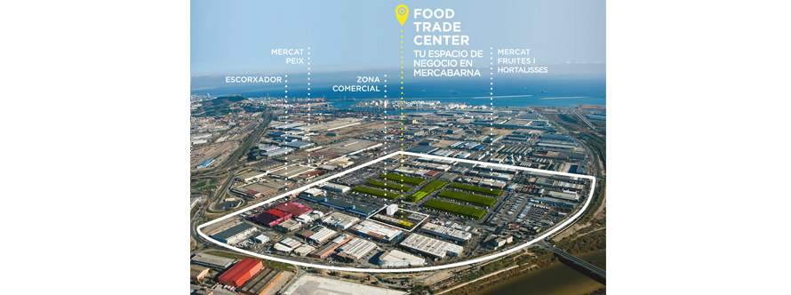 Ubicación del Food Trade Center de Mercabarna en Barcelona